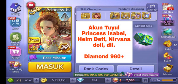 Akun Tuyul ber Diamond #3