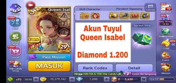 Akun Tuyul ber Diamond