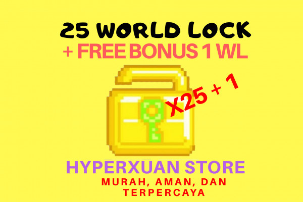 25 WORLD LOCK + 1 FREE WL