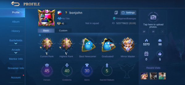 Mythic user mage