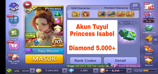 Akun Tuyul ber Diamond #7